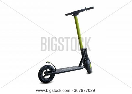 Urban Electric Scooter, Lime Kick City Rider Bike - Transport For Business. Street Motorcycle Isolat