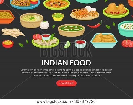 Indian Food Landing Page Template, National Tasty Dishes, Ordering Online Service, Takeaway Meal, Ta