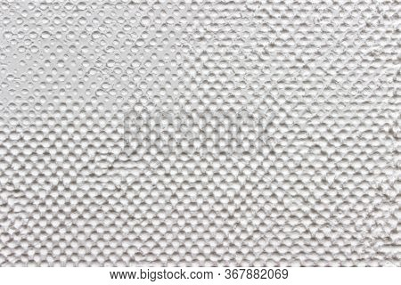 Creative White Pattern With Many Dots On Surface Of Natural Polymer Starch.
