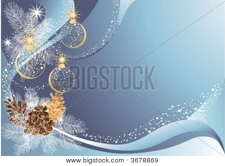 Christmas Blue Background