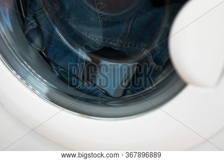 Forgotten Phone In Jeans In The Washing Machine.