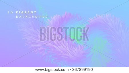 Vibrant Background. Pastel Trendy Banner. Color Geometric Concept. Flow Gradient Motion. Fluid 3d Vi