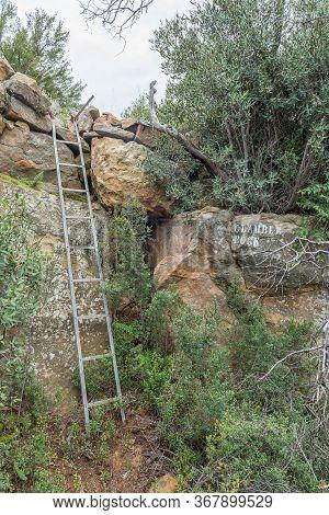 A Steel Ladder At Clamber Rock On The Zebra Hiking Trail At Eingedi Near Ladybrand