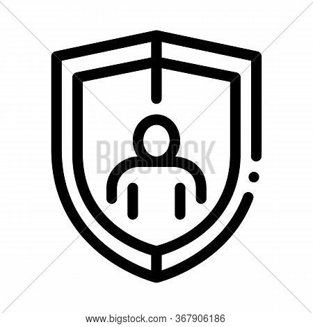 Immunity Protection Icon Vector. Immunity Protection Sign. Isolated Contour Symbol Illustration