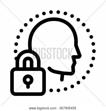 Human Immunity Protection Icon Vector. Human Immunity Protection Sign. Isolated Contour Symbol Illus