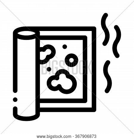 Evaporation From Carpet Cleaning Icon Vector. Evaporation From Carpet Cleaning Sign. Isolated Contou