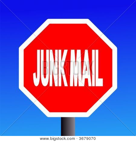 Stop Junk Mail Sign