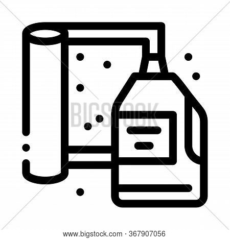 Cleaning Agent And Carpet Icon Vector. Cleaning Agent And Carpet Sign. Isolated Contour Symbol Illus