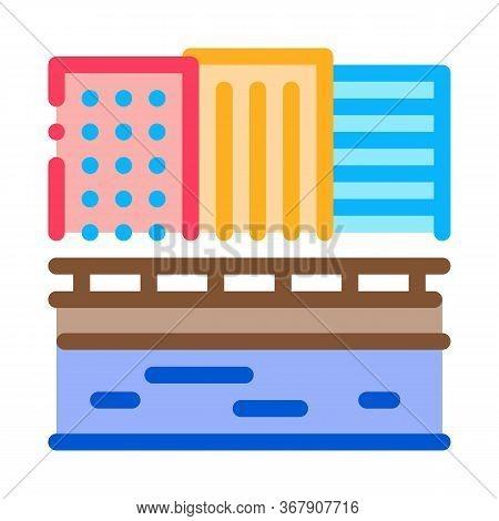 Zigzag Flowing River Icon Vector. Zigzag Flowing River Sign. Color Symbol Illustration