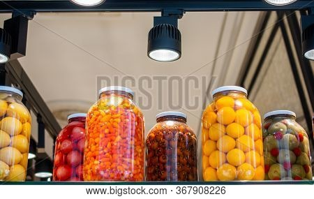 Pickled Fermented Vegetables For Long-term Storage In Jars