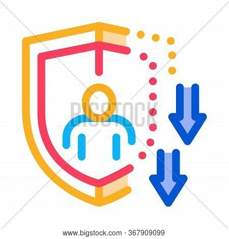 Impaired Immunity Icon Vector. Impaired Immunity Sign. Color Symbol Illustration