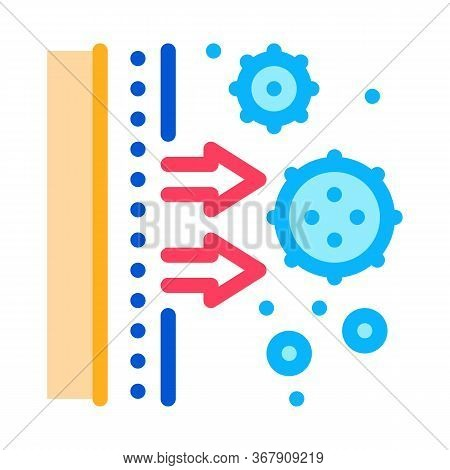 Subcutaneous Infections Harm Icon Vector. Subcutaneous Infections Harm Sign. Color Symbol Illustrati