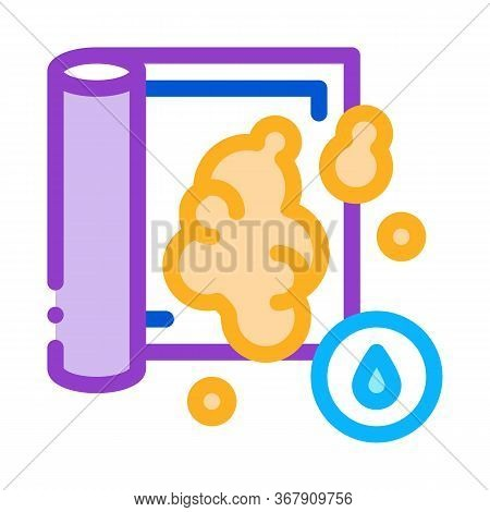Water Soapy Carpet Cleaning Icon Vector. Water Soapy Carpet Cleaning Sign. Color Symbol Illustration