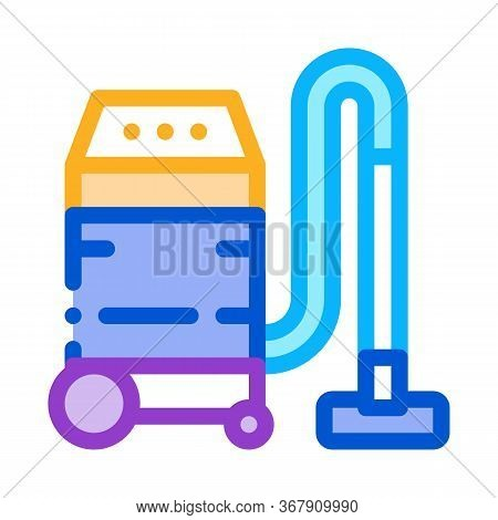 Household Vacuum Cleaner Icon Vector. Household Vacuum Cleaner Sign. Color Symbol Illustration