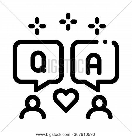 People Love Dialogue Icon Vector. People Love Dialogue Sign. Isolated Contour Symbol Illustration