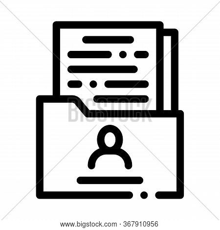 Uncertain State Of Man Icon Vector. Uncertain State Of Man Sign. Isolated Contour Symbol Illustratio