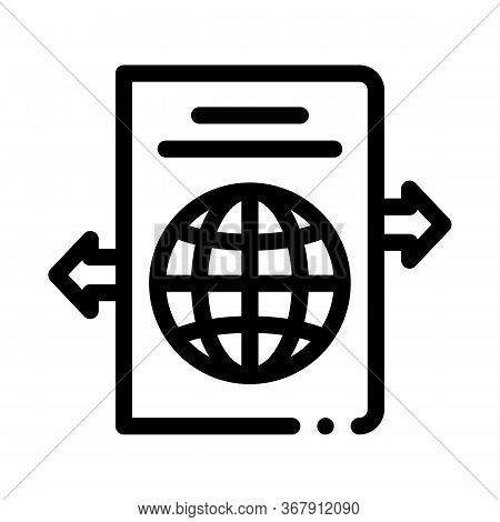 Choosing Place To Go Icon Vector. Choosing Place To Go Sign. Isolated Contour Symbol Illustration