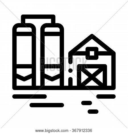 Dairy Farm Icon Vector. Dairy Farm Sign. Isolated Contour Symbol Illustration