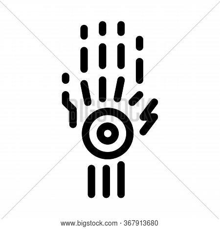 Arthritis Of Wrist Icon Vector. Arthritis Of Wrist Sign. Isolated Contour Symbol Illustration
