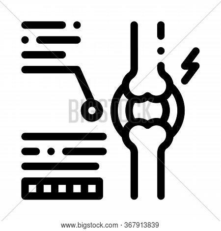 Study Of Bone Arthritis Icon Vector. Study Of Bone Arthritis Sign. Isolated Contour Symbol Illustrat
