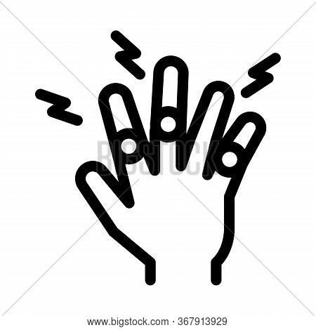 Arthritis Of Finger Joints Icon Vector. Arthritis Of Finger Joints Sign. Isolated Contour Symbol Ill