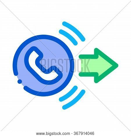 Outgoing Call Service Icon Vector. Outgoing Call Service Sign. Isolated Contour Symbol Illustration