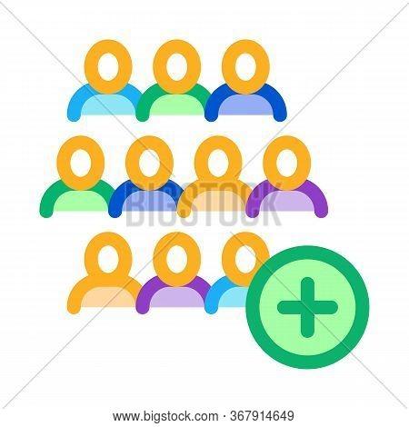 Adding New Employees Icon Vector. Adding New Employees Sign. Isolated Contour Symbol Illustration