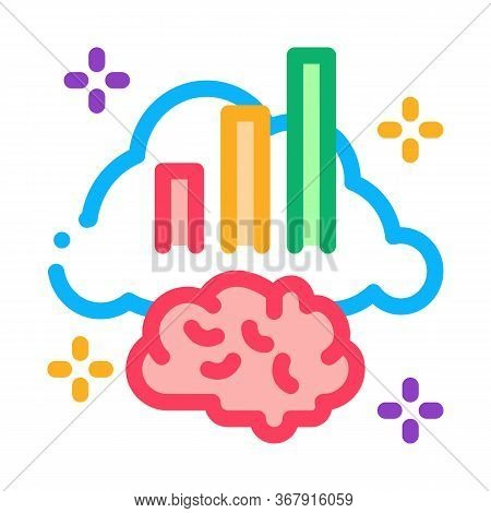 Brainstorming Chart Icon Vector. Brainstorming Chart Sign. Isolated Contour Symbol Illustration