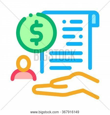Cash Purchase Agreement Icon Vector. Cash Purchase Agreement Sign. Isolated Contour Symbol Illustrat