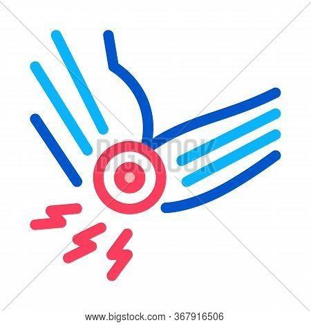 Arthritis Of Elbow Icon Vector. Arthritis Of Elbow Sign. Isolated Contour Symbol Illustration