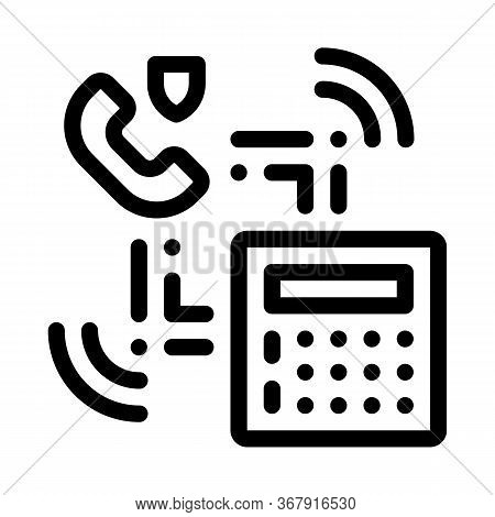 Scan Code Detection Icon Vector. Scan Code Detection Sign. Isolated Contour Symbol Illustration
