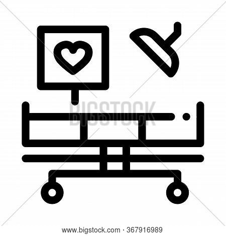 Surgeon Medical Table Icon Vector. Surgeon Medical Table Sign. Isolated Contour Symbol Illustration