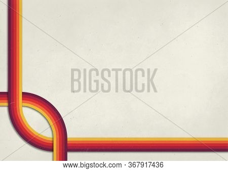 A Retro 1970's Or 1980's Graphic Background Design For Use As A Product, Poster Or Flyer Background