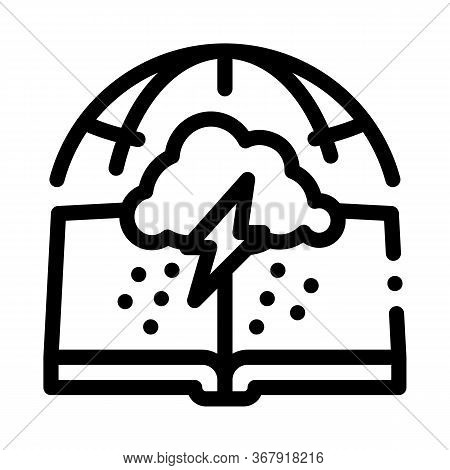 Meteorology Science Icon Vector. Meteorology Science Sign. Isolated Contour Symbol Illustration