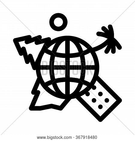 Human Geography Science Icon Vector. Human Geography Science Sign. Isolated Contour Symbol Illustrat