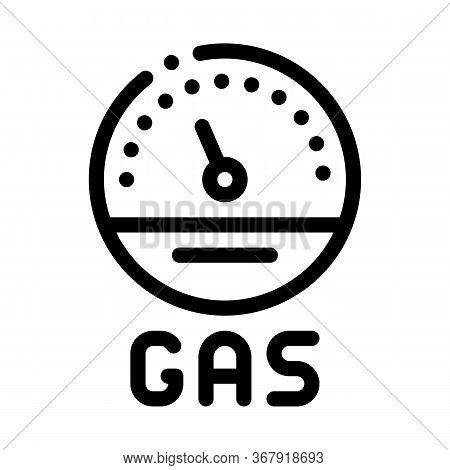 Engine Gas Indicator Icon Vector. Engine Gas Indicator Sign. Isolated Contour Symbol Illustration