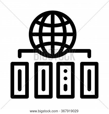World Distribution Icon Vector. World Distribution Sign. Isolated Contour Symbol Illustration