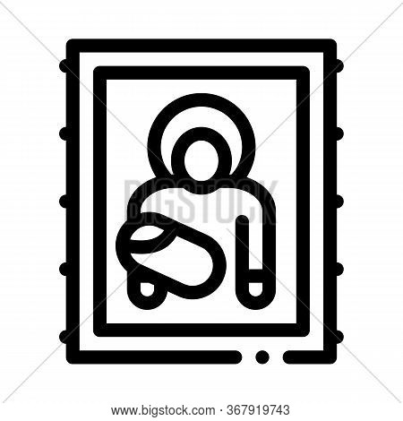 Icon Of Holy Mother Of God Icon Vector. Icon Of Holy Mother Of God Sign. Isolated Contour Symbol Ill