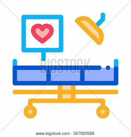 Surgeon Medical Table Icon Vector. Surgeon Medical Table Sign. Color Symbol Illustration