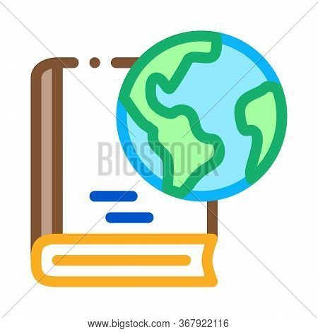 History Of Geography Science Icon Vector. History Of Geography Science Sign. Color Symbol Illustrati