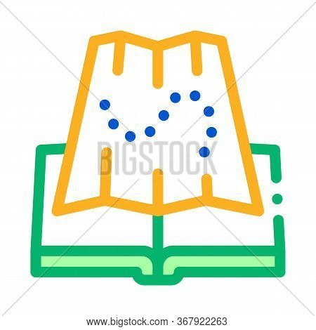 Integrated Geography Icon Vector. Integrated Geography Sign. Color Symbol Illustration