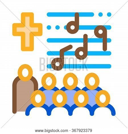 Church Choir Icon Vector. Church Choir Sign. Color Symbol Illustration