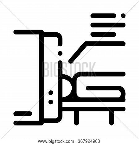 Human Body Scan X-ray Icon Vector. Human Body Scan X-ray Sign. Isolated Contour Symbol Illustration
