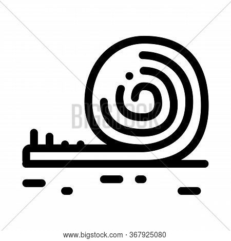 Rolled Artificial Turf Icon Vector. Rolled Artificial Turf Sign. Isolated Contour Symbol Illustratio