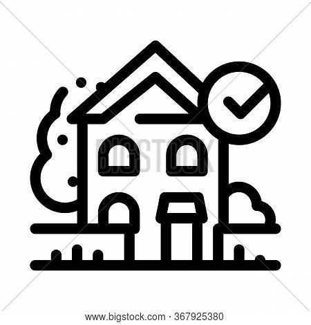 Ecologically Clean Territory Icon Vector. Ecologically Clean Territory Sign. Isolated Contour Symbol