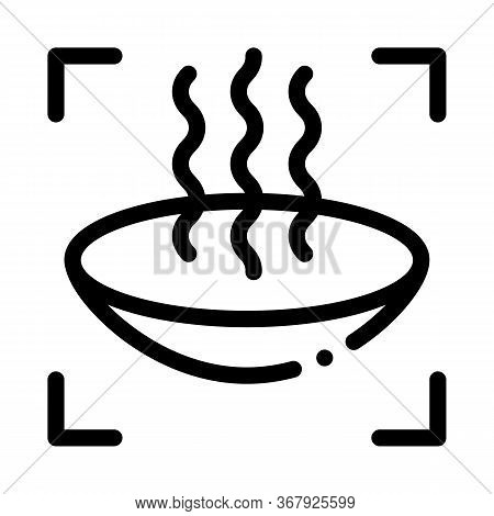 Lens Vaporization Icon Vector. Lens Vaporization Sign. Isolated Contour Symbol Illustration
