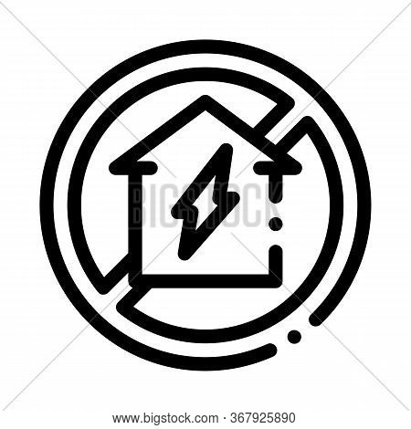 House Sign In Ruin Icon Vector. House Sign In Ruin Sign. Isolated Contour Symbol Illustration