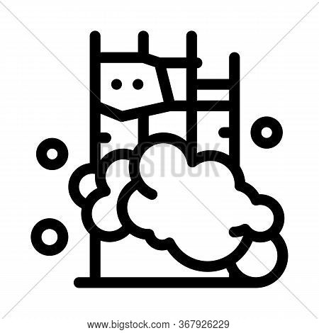 Destruction Of Foundation Icon Vector. Destruction Of Foundation Sign. Isolated Contour Symbol Illus