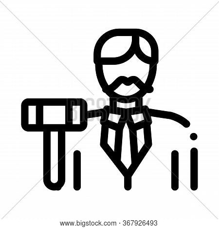 Auction Lead Icon Vector. Auction Lead Sign. Isolated Contour Symbol Illustration