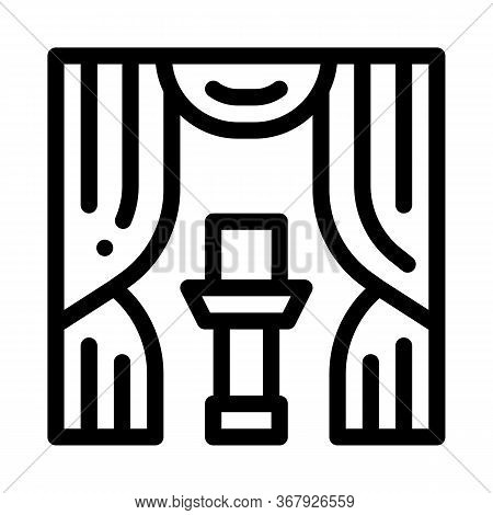 Auction Appearance Icon Vector. Auction Appearance Sign. Isolated Contour Symbol Illustration